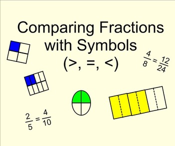 Comparing Fractions with Symbols SMARTnotebook