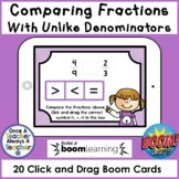 Boom Cards • Comparing Fractions with Unlike Denominators