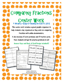 Comparing Fractions with Unlike Denominators - Math Centers