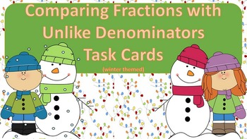 Comparing Fractions with Unlike Denominators Task Card {Wi