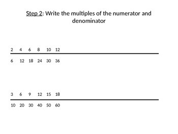 Comparing Fractions with Unlike Denominators Using the Line Strategy PPT