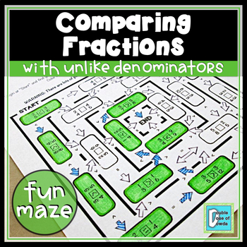Comparing Fractions with Unlike Denominators Worksheet