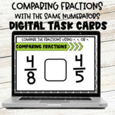 Comparing Fractions with the Same Numerator Digital Task Cards