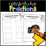 Comparing Fractions with the Same Numerator and Denominator