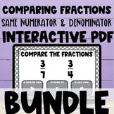 Comparing Fractions Same Numerator or Same Denominator Int