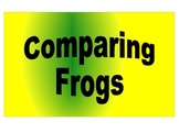Comparing Frogs Math Center/ File Folder Game