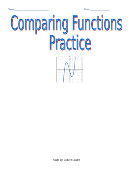 Comparing Functions Practice