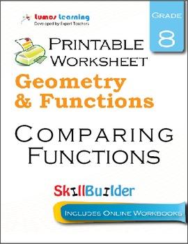 Comparing Functions Printable Worksheet, Grade 8