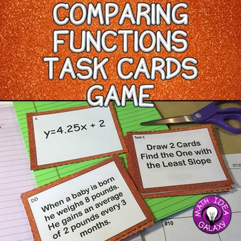 Comparing Functions Activity with Task Cards