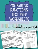 Comparing Functions Test Prep Worksheets