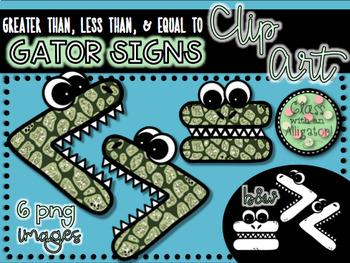 Comparing Gators Glitter Clip Art
