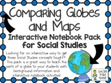 Comparing Globes & Maps (Finding Locations) ~ Interactive Notebook Pack