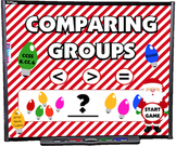 Comparing Groups (Christmas Style) Smart Board Game - FREE
