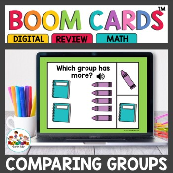 Comparing Groups Boom Cards