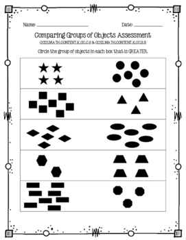 Comparing Groups of Objects Assessment