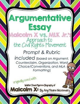 Argumentative Research Paper: Malcolm X vs MLK in Civil Rights Movement