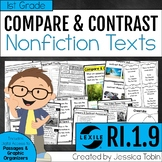 Compare and Contrast Nonfiction Text 1st Grade RI.1.9-digital with Google Slides