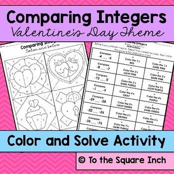 Comparing Integers Color and Solve