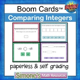 Comparing Integers Digital Interactive Boom Cards Distance
