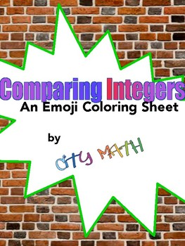 Comparing Integers Emoji Coloring Sheet