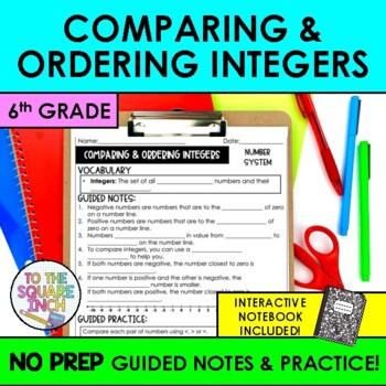 Comparing Integers Notes