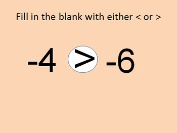 6NSC5 Comparing Positive & Negative Numbers PowerPoint