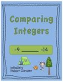 Comparing Integers Worksheet