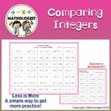 FREE Comparing Integers Worksheet-Drill