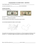 Comparing Items in Scientific Notation - Guided Notes