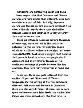 Comparing Japan and China Close Read
