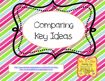 Comparing Key Ideas from Two Texts