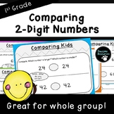 Comparing Kids Teacher Slides-Place Value Activity (First Grade, 1.NBT.3)