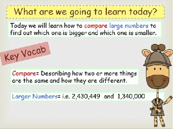 Comparing Larger Numbers Place Value