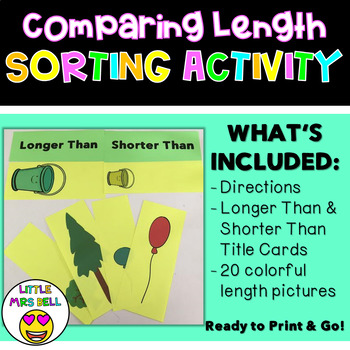 Comparing Length Sorting Activity