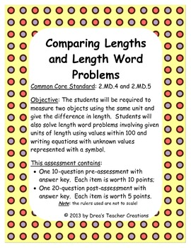 Comparing Length and Length Word Problems