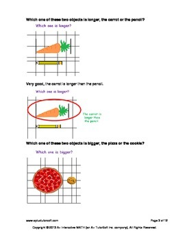 Comparing Length (lesson and a worksheet)