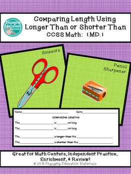 Comparing Lengths Using Longer Than or Shorter Than