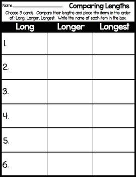 Comparing Lengths Measurement Center
