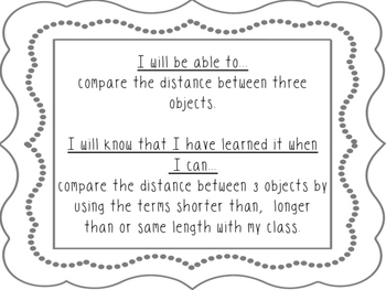 Comparing Length and Distance * Grade 1 Module 3 Engage New York Supplement *