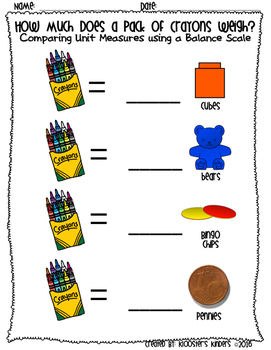 Hands on Measurement - 3 Activity Worksheets - Length, Weight, and Volume