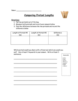 Comparing Lengths with Pretzel Rods