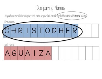 Comparing Letters in My Name