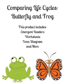 Life Cycle Of A Butterfly And Frog Worksheets Teaching