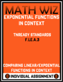 Comparing Linear & Exponential Functions in Context - TNReady