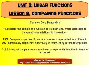 Comparing Linear Functions (Math 1)