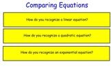 Comparing Linear, Quadratic & Exponentials