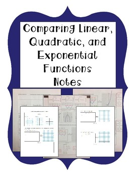 Comparing Linear, Quadratic, and Exponential Functions