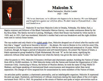 Malcolm X and MLK Jr Lesson