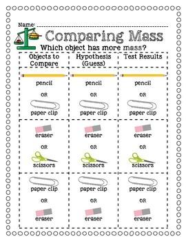 Comparing Mass Using a Balance