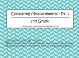 Comparing Measurement 2 w/ Word Problems - 2nd Grade
